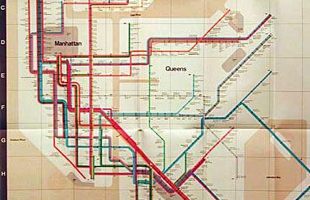 Vignelliho mapa metra z roku 1972