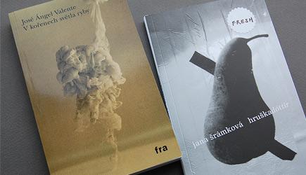 Vlevo typický titul nakladatelství Fra, vpravo zatím poslední přírůstek do svěží edice Fresh
