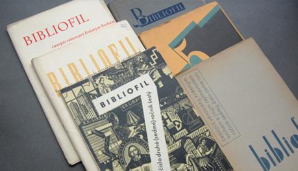 Odborný knihomilný časopis Bibliofil, čísla z let 1929 a 1930.