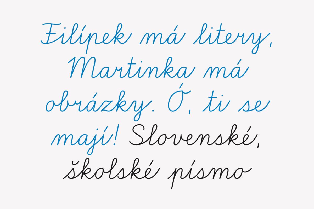 Školské písmo. Autoři Martina Rozinajová, Ján Filípek
