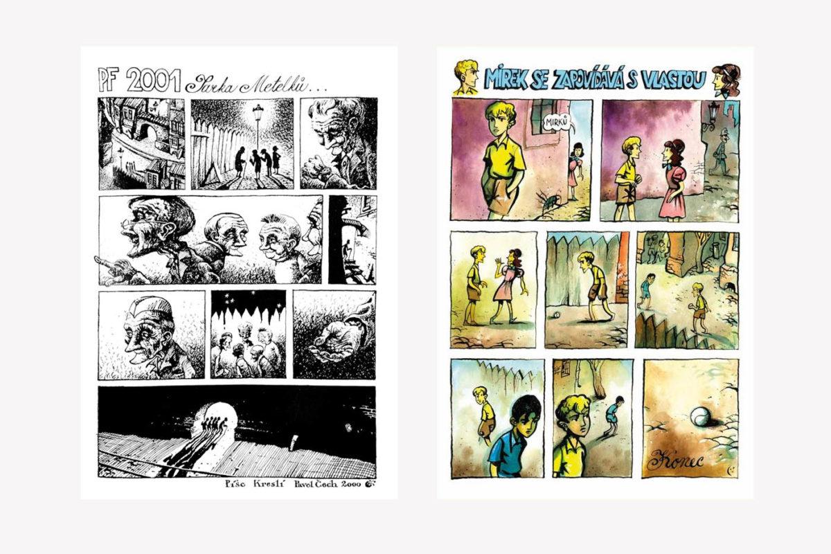 PF 2001 a ilustrace do knihy RŠ a jejich úžasná nová dobrodružství (Akropolis, 2018)